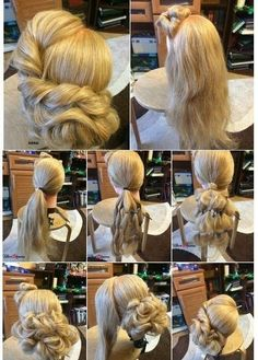- What to do with your hair - Hochzeitsfrisuren-braided wedding updo-Wedding Hairstyles Fancy Hairstyles, Braided Hairstyles, Wedding Hairstyles, Blonde Hairstyles, Simple Hairstyles, Short Hair Styles, Natural Hair Styles, Prom Hair Updo, Updo Tutorial