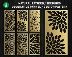 6 Natural Texture for laser / plasma / CNC for decorative partitions panel screen.File good quality tested at machine cnc.