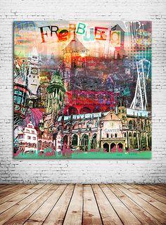 """""""MEIN BADNERLAND"""" als Kunstdruck auf Leinwand, Alu-Dibond oder als Poster in unterschiedlichen Größen bei oh!chapeau bestellen"""