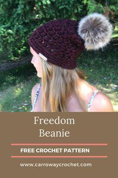 Crochet Hat With Brim, Easy Crochet Hat, Crochet Beanie Pattern, Crochet Fall, All Free Crochet, Beginner Crochet Projects, Crochet Patterns For Beginners, Easy Crochet Patterns, Bralette Pattern