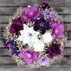 Bouquet en tonos morados