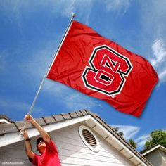 North Carolina State Wolfpack NC State University Large College Flag by College Flags and Banners Co.. $29.95. Our NC State Flag measures 3x5 feet in size, has quadruple-stitched fly ends, is made of durable polyester, and has two metal grommets for attaching to your flagpole. The screen printed NC State logos are Officially Licensed and Approved by North Carolina State University and are viewable from both sides with the opposite side being a reverse image.