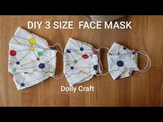 Free tutorial with an easy DIY face masks pattern. Sewing Tutorials, Sewing Hacks, Sewing Crafts, Sewing Projects, Sewing Diy, Tutorial Sewing, Bag Tutorials, Easy Face Masks, Diy Face Mask
