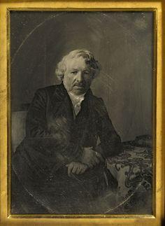 Charles Richard Meade (American, 1826-1858) Portrait of Louis-Jacques-Mandé Daguerre 1848 Daguerreotype, hand-colored