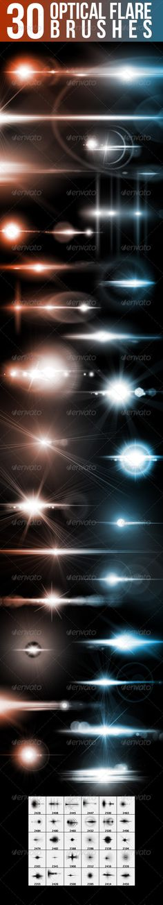 http://graphicriver.net/item/30-optical-flare-brushes/5358850/?ref=nada-images