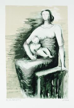 henry moore drawings mother and child - Google Search