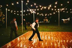 farm wedding dance floor Yessssss
