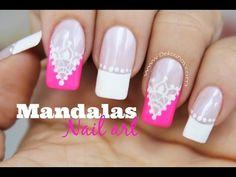 3 Diseños de uñas FACIL ideales para novias - 3 Easy bride Nails - YouTube