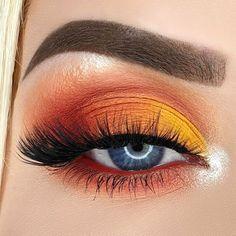 Makeup Eye Looks, Eye Makeup Art, Halloween Makeup Looks, Eyeshadow Makeup, Eyeshadow Palette, Eyeshadow Ideas, Easy Eyeshadow, Halloween Nails, Makeup Geek