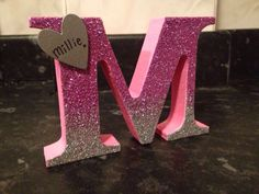 1000 ideas about decorated wooden letters on pinterest wood ombr glitter freestanding wooden letter spiritdancerdesigns Images
