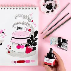 """Zinia Redo on Instagram: """"Today I went a bit overboard with color cause the red ink I picked gave me some nice pastel shades of pink as well. I wanted to resist but…"""" Pastel Shades, Give It To Me, Traditional, Illustration, Pink, Color, Instagram, Colour, Illustrations"""