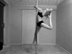 Bunch of pole dancing fitness tricks.