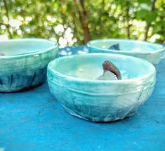 Mini Trinket Dish Textured Turquoise Pottery Ring Dish Carved Aqua Blue Purple Brown Ceramic Jewelry Storage Spice Bowl Earring Bowl