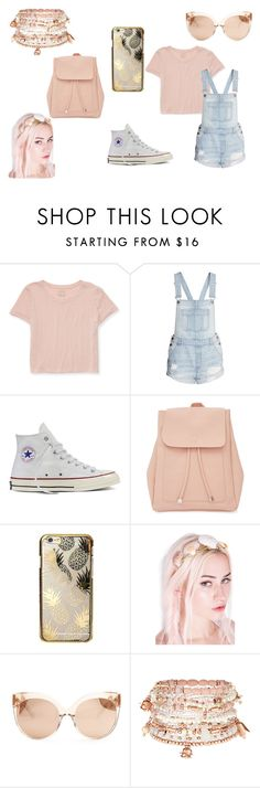 """PINK POWER!"" by creativegurlsrbaexoxo ❤ liked on Polyvore featuring Aéropostale, Converse, New Look, Skinnydip, Rock 'N Rose, Linda Farrow and Accessorize"