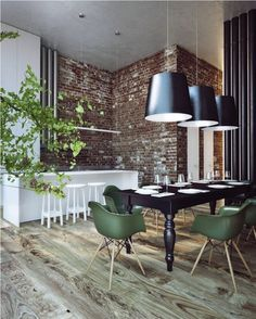 20 Breathtaking Rooms With Exposed Brick via Brit + Co