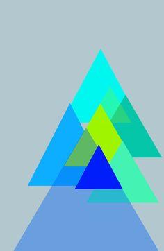 a color scheme for my nails! Triangles - blues color scheme Art Print