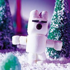 Art Edible Christmas Decorations: Puffy the Polar Bear crafts Polar Bear Party, Cute Polar Bear, Christmas Candy Crafts, Christmas Decorations, Diy Christmas, Holiday Fun, Christmas Ornaments, Edible Crafts, Food Crafts