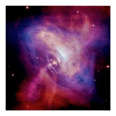 Crab Pulsar Time Lapse - Neutron Star space image Poster Size: Medium. Gender: unisex. Age Group: adult. Material: Value Poster Paper (Matte). Crab Nebula, Hubble Pictures, Astronomy Facts, Ocean Horizon, Wallpaper Earth, Neutron Star, Space Gallery, Carina Nebula, Hubble Space Telescope