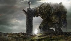 D&D Colossus. If you play fantasy games you are probably familiar with what a golem is. However, not as many people are likely to know what a colossus is in D&a Fantasy Artwork, Fantasy Rpg, Fantasy World, Dark Fantasy, Fantasy Beasts, Fantasy Books, Myths & Monsters, Beast Creature, Fantasy Monster