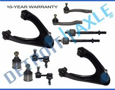 Kit 8Pc for 1997-2001 Honda CR-V Front Upper Control Arm Lower Ball Joint TieRod