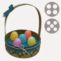 Bits of Paper: 3D Easter Baskets and Handled Pillow Box