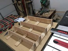 Post with 26542 views. Woodworking Desk Plans, Woodworking Projects, Diy Projects, Drill Press Table, Shop Organization, Shop Layout, Diy Bench, Tool Storage, Atelier