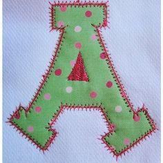 Machine Embroidery Designs Applique Alphabet by KaboDesignsdotcom, $7.00