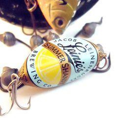 Bottle Cap Fishing Lure Add Your Bait  Leinie's Summer by BaitPro. , via Etsy.