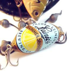 Bottle Cap Fishing Lure Add Your Bait  Leinie's Summer by BaitPro. , via Etsy.
