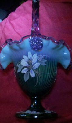 Fenton Art Glass Company | FENTON Art Glass New Century XXI Collection Basket