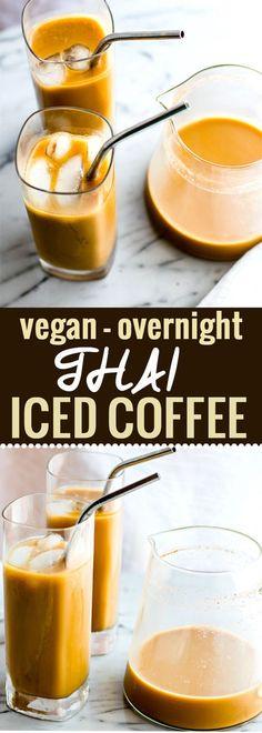 Vegan Overnight Thai Iced Coffee Recipe {Homemade}