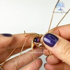 Mini Tutorial for Wire Wrapping Rings - First New Mini Tutorial This Year . - Mini Tutorial for Wire Wrapping Rings – First New Mini Tutorial This Year! So excited to share th - Handmade Wire Jewelry, Wire Jewelry Designs, Wire Jewelry Making, Jewelry Crafts, Jewelry Box, Girls Jewelry, Jewelry Armoire, Cheap Jewelry, Etsy Jewelry