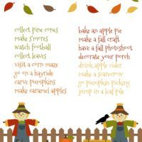 Fall Bucket List Pri