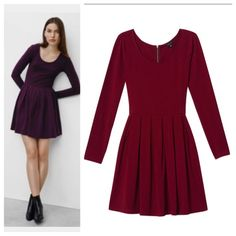 Talula Dress Purchased at Aritzia. Worn maybe 4x. Raspberry color (in the first photo the darker color is to show what it looks like on). Super comfortable and flattering. Please ask questions! Aritzia Dresses Long Sleeve