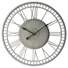 Infinity Instruments Country Lace Wall Clock - Grey : Target