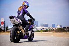 K & N Signs World Renowned Motorcycle Stunt Riding Artist Leah Petersen. #knfilters