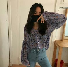 Short Skirts, Casual Looks, Korean Fashion, Boho Chic, Ruffle Blouse, Skinny Jeans, My Style, Lace, Pretty