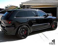 The team at Automotive Connoisseur Group has taken things a step further with COR Wheels and some engine upgrades that unleash the beast. Grand Cherokee Trailhawk, Jeep Grand Cherokee Srt, Donk Cars, Suv Cars, Srt8 Jeep, Mopar, Jeep Dodge, Jeep Jeep, Jeep Grand Cherokee Accessories