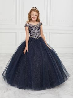 Tiffany Princess 13594 This off shoulder neckline with Cold shoulder straps features fully beaded bodic, glitter tulle ball gown skirt and Lace-up back Pagent Dresses, Girls Pageant Dresses, Girls Formal Dresses, Gowns For Girls, Wedding Dresses For Girls, Pageant Gowns, Ball Dresses, Homecoming Dresses, Nice Dresses