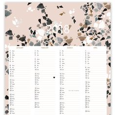 KALENDER 2018 #nuukk #kalender2018 Good Mood, Calendar, Etsy, My Favorite Things, Inspiration, Design, Wallpapers, Calendar 2018, Nice Asses