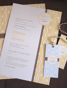 yellow invitation design.  Not my favorite, but like that it's clean and simply and doesn't look too formal
