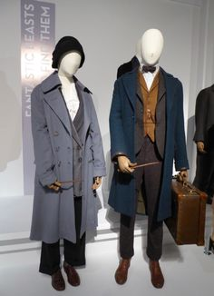 Tina Goldstein and Newt Scamander Fantastic Beasts movie costumes