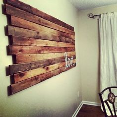 Homemade wood wall decor we did @Calais F