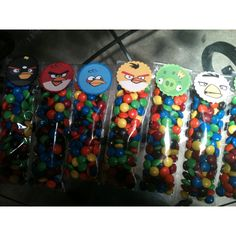 Angry bird candy favor bags