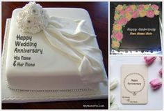 Get a romantic happy anniversary cake with name and photo from here. Make your wife, husband, and friend's anniversary more special and romantic with us. Birthday Cake Write Name, Birthday Wishes With Name, Friends Birthday Cake, Happy Birthday Cake Photo, Birthday Cake Writing, Happy Birthday Cake Pictures, Elegant Birthday Cakes, Cake Name, Beautiful Birthday Cakes