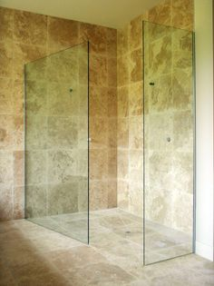 Open shower screen