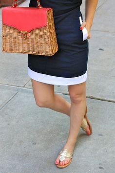 Vineyard Vines dress & Jack Rogers sandals