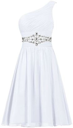 Women's Short Cocktail Party Dress One Shoulder Prom Gown. Pretty Prom Dresses, Prom Dresses For Teens, Hoco Dresses, Elegant Dresses, Homecoming Dresses, Cute Dresses, Evening Dresses, Girls Fashion Clothes, Fashion Outfits