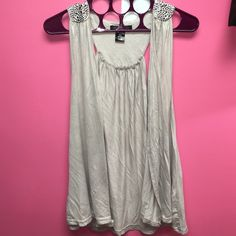 Light grey cover up Brand new never worn! Light grey with silver metal dots on the shoulders and back. This cover up falls right over my bottom and im 5'2 Urban behavior Tops Tunics