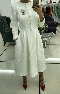 Hope you're enjoying my posts ladies🌹… Fashion Wear, Modest Fashion, Hijab Fashion, Fashion Dresses, Womens Fashion, Ladies Fashion, Lovely Dresses, Dresses For Work, Dresses With Sleeves